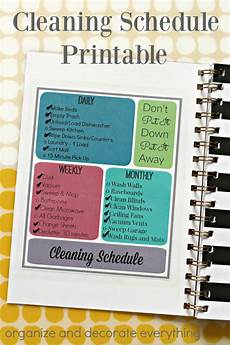 Daily Weekly Monthly Cleaning Cleaning Schedule Printable Organize And Decorate Everything