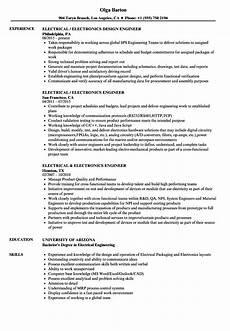 Electronics Engineer Resume Samples Electrical Engineer Electronics Engineer Resume Velvet
