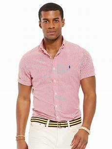 ralph sleeve shirts for polo ralph seersucker gingham sleeve shirt in