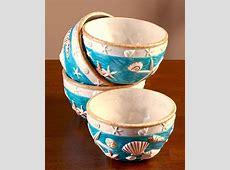 Coastal Cottage Dinnerware Bowl Set of 4 Seashell Beach