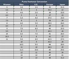 Puma Mens Shoes Size Chart Sizing Chart Soccer Village