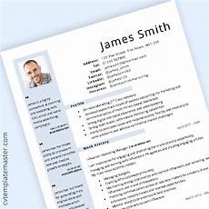 Cv Template Uk 2020 General Cv Template Blue Layout In Word Format 2020
