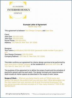 Contract For Website Design Services Interior Design Contract Template Letter Of Agreement