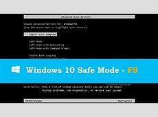 Boot to Safe Mode in Windows 10   Enable F8 Key   YouTube