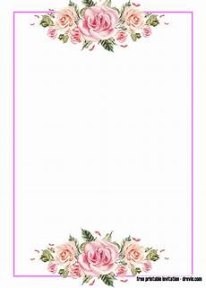 Design An Invitation To Print Free Free Pink Floral Invitation Templates Free Printable