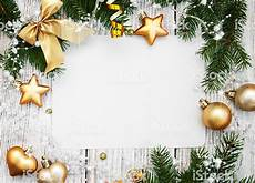 Blank Christmas Christmas Background Blank Paper With Decoration Stock