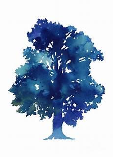 Blue Tree Design Blue Tree Minimalist Painting Painting By Joanna Szmerdt