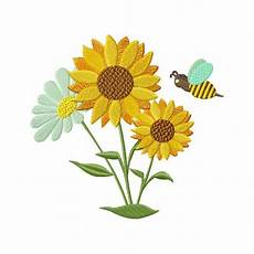 sweet sunflower 1 embroidery design daily embroidery