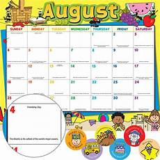Monthly Calendar Pages And Stickers 2019 2020 Primary
