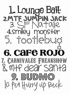 Fun Fonts Lovely Little Snippets Favorite Fonts Take 2