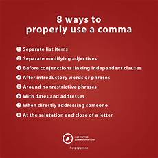When Do I Use A Comma 8 Times When You Should Use A Comma