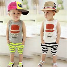 2 years boy clothes 2016 boy casual summer vest suit vest fitted baby