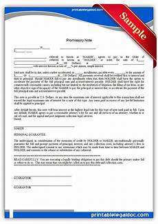 Free Printable Promissory Note Form Free Printable Promissory Note Form Generic