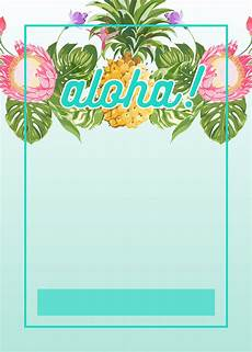 Birthday Invi Free Luau Invitation Emails