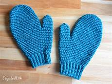 my pair of crochet mittens pops de milk