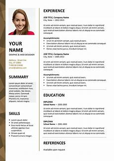Cv To Download Dalston Free Resume Template Microsoft Word Brown Layout