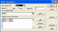 Solver Excel Macro Excel Solver Examples And Vba Macro