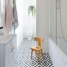 bathroom flooring ideas uk modern monochrome bathroom with geometric vinyl floor