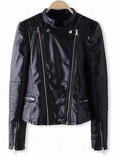 zipper for coats black sleeve zipper pu crop leather jacket
