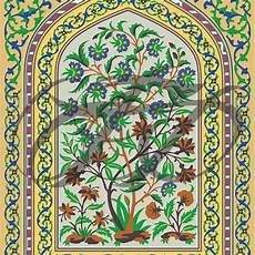 fresco work at lahore fort wall mural 011 decorative