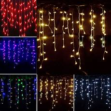 Dangling Fairy Lights Icicle Hanging Snowing String Fairy Lights Curtain