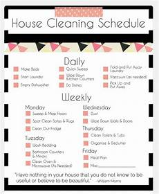 House Chores Schedule House Cleaning Schedule A Girl And Her White Dog