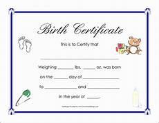 Birth Certificate Free Printable 8 Birth Certificate Template In Pdf Sampletemplatess