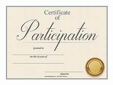 Free Printable Participation Certificates Customize Your Free Printable Participation Certificate