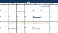 Excel Template Calendar Make A 2018 Calendar In Excel Includes Free Template