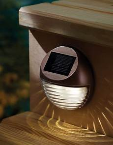 How To Attach Solar Lights To Brick Wall Moonrays 95027 Wall Post Mount Solar Deck Light Round
