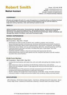 Medical Assistant Summary Medical Assistant Resume Samples Qwikresume
