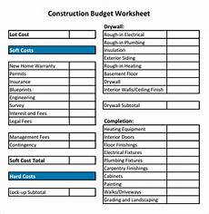 Home Construction Budget Template Free 12 Construction Budget Samples In Google Docs