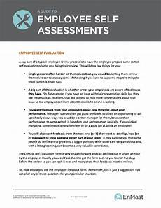 Employee Assessment Sample A Guide To Employee Evaluations Self Assessment Tool