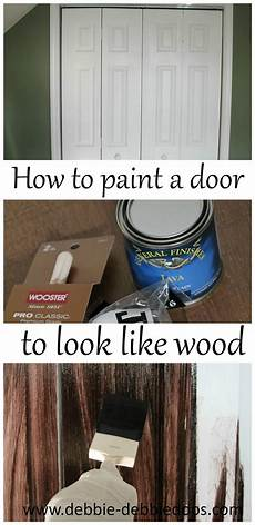 How To White Paint How To Paint A Plain White Door To Look Like Wood Debbiedoos