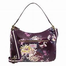Cath Kidston York Designer Outlet Cath Kidston York Flowers Curve Shoulder Bag Plum
