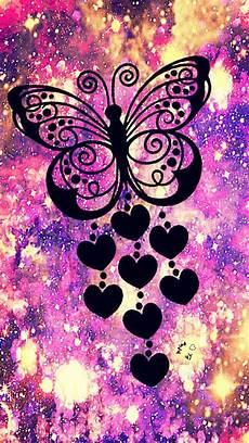 iphone lock screen butterfly wallpaper butterfly hearts galaxy wallpaper androidwallpaper