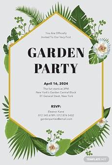 invitation ideas for party free garden party invitation template in microsoft word