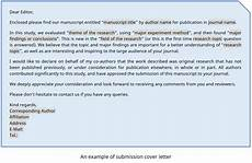 Cover Letter To Journal Editor Cover Letter Journal