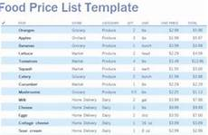 Grocery List Prices Calculator Excel Planner Excel Planner Template