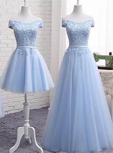 Light Blue Dress Cap Sleeves Light Blue Tulle Bridesmaid Dress Cap Sleeves Short