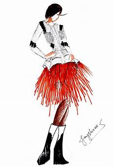 western fashion sketches wardrobe
