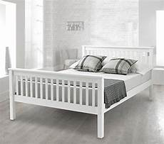 happy beds bed lisbon contemporary white finish solid pin