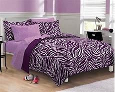purple zebra bedding xl bed in a