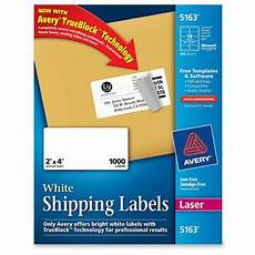 Avery Shipping Labels 5163 Upc 072782051631 Avery Dennison White Shipping Labels