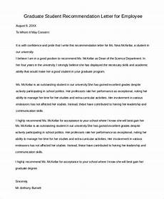 Recommendation Letter For Student From Employer Free 6 Sample Letter Of Recommendation For Employment In
