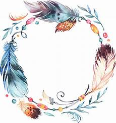 dreamcatcher feather leaves fang watercolor colorful