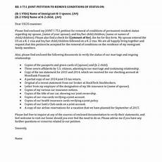 Cover Letter For Green Card Application Sample Cover Letter Form I751 Uscis I 751 Removal Of