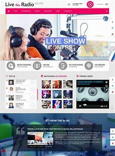 Radio Station Template 29 Radio Station Website Themes Amp Templates Free