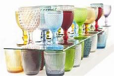 bicchieri in vetro colorato calici etnici vetro 6pz acccessori tavola etnici