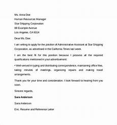 Letter Of Recommendation Administrative Assistant Administrative Assistant Cover Letter Template 9 Free